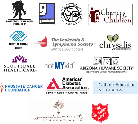 Image of all the charities we work with.